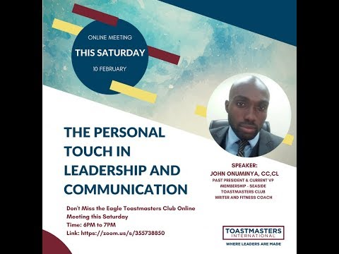 The Personal Touch in  Leadership and Communication with John Onuminya