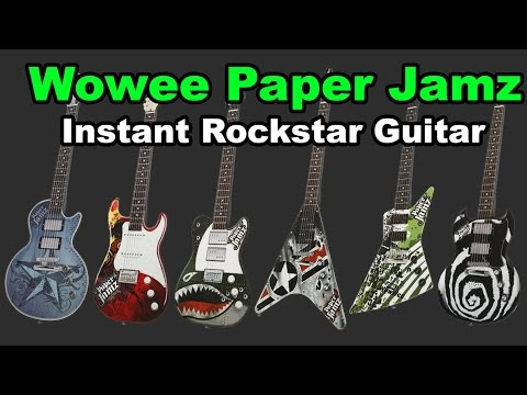 Wowwee Paper Jamz Instant Rockstar Guitar Review and Demo (Paper Jam)
