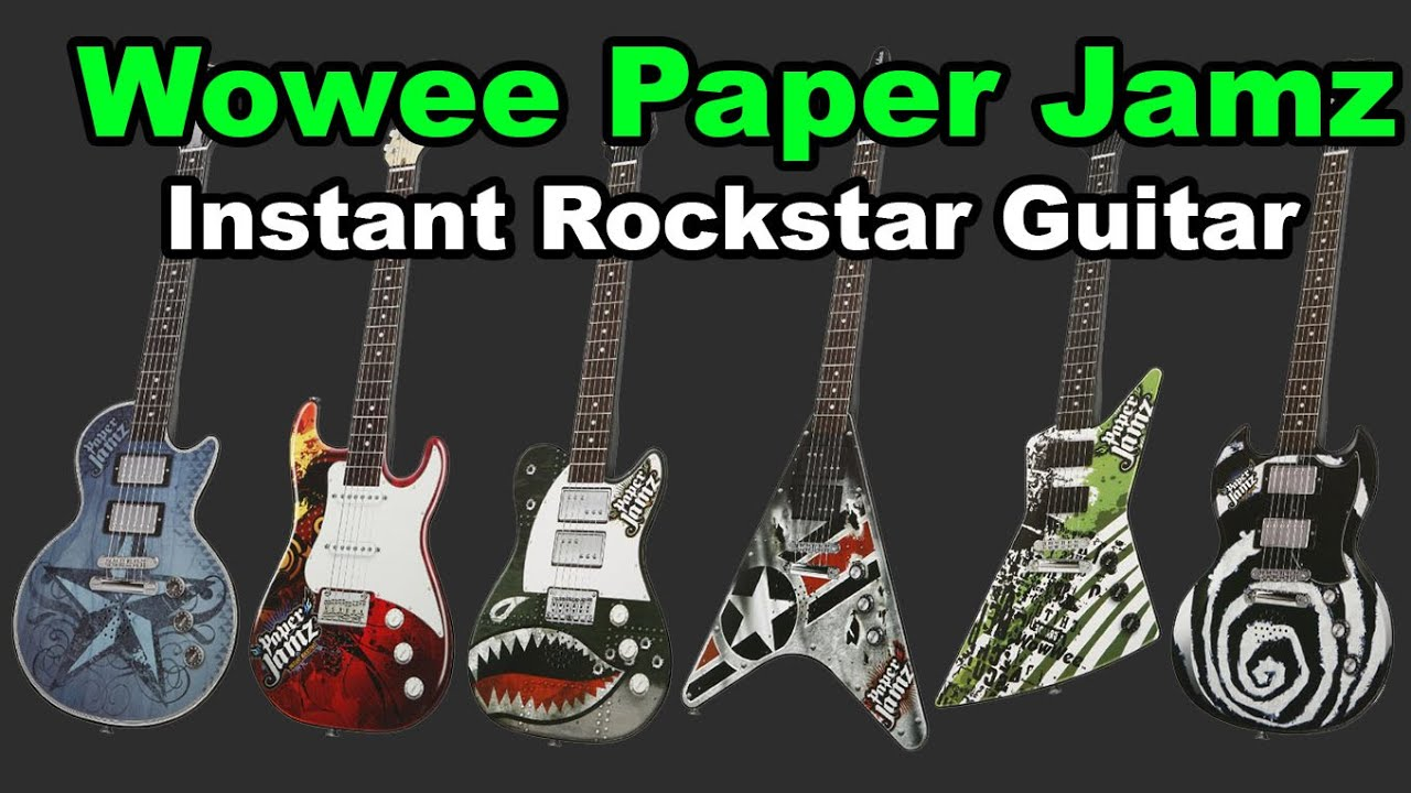 wowwee paper jamz Recently launched in the uk, paper jamz has classic rock styling, a range of 30  chords and three legendary rock anthems that can be jammed.