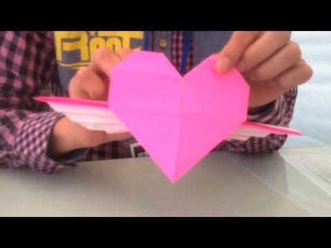 ハート 折り紙 折り紙 小学生 : youtube.com