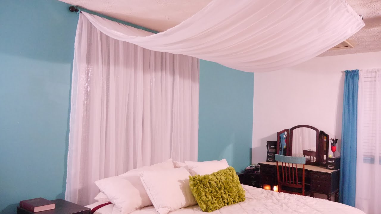 Diy canopy easy inexpensive youtube for Build your own canopy bed