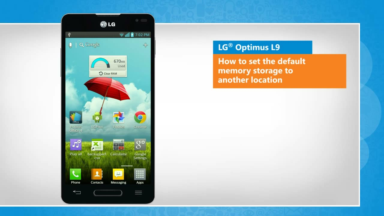 How to set the default memory storage to another location in lg how to set the default memory storage to another location in lg optimus l9 ccuart Choice Image