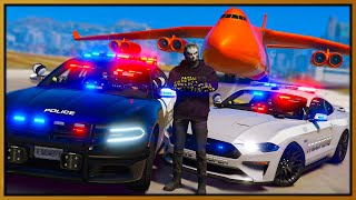GTA 5 Roleplay - I steal 10 cop cars with cargo plane | RedlineRP