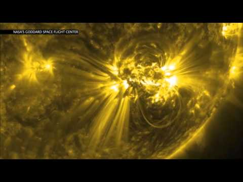 NASA Releases Video of Incredible Solar Flares
