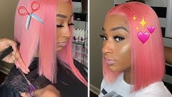 VERY Detailed Pink BOB CUT!✂️ (MUST-SEE!)