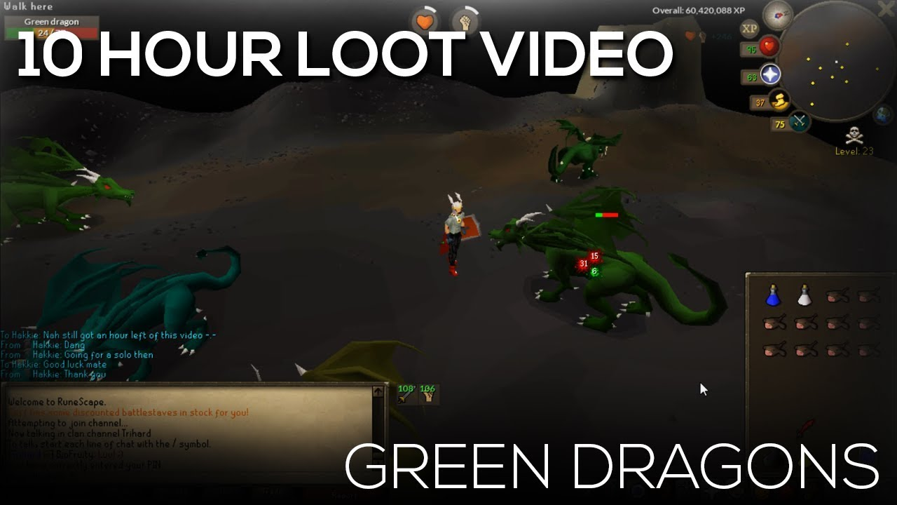 Osrs 10 Hour Loot Video Wilderness Green Dragons Youtube