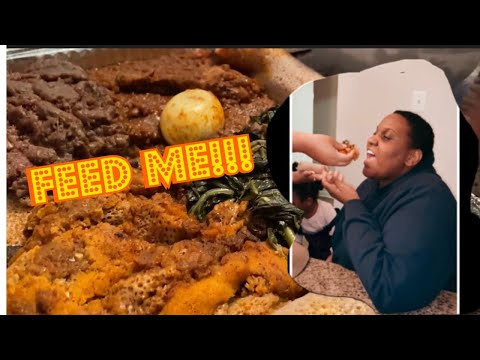 TRYING ETHIOPIAN FOOD FOR THE FIRST TIME!
