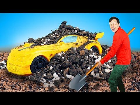 Автобот Бамблби ДОМА УФЕДОРА? —Собираем робота помощника для уборки! —Трансформеры имашинки