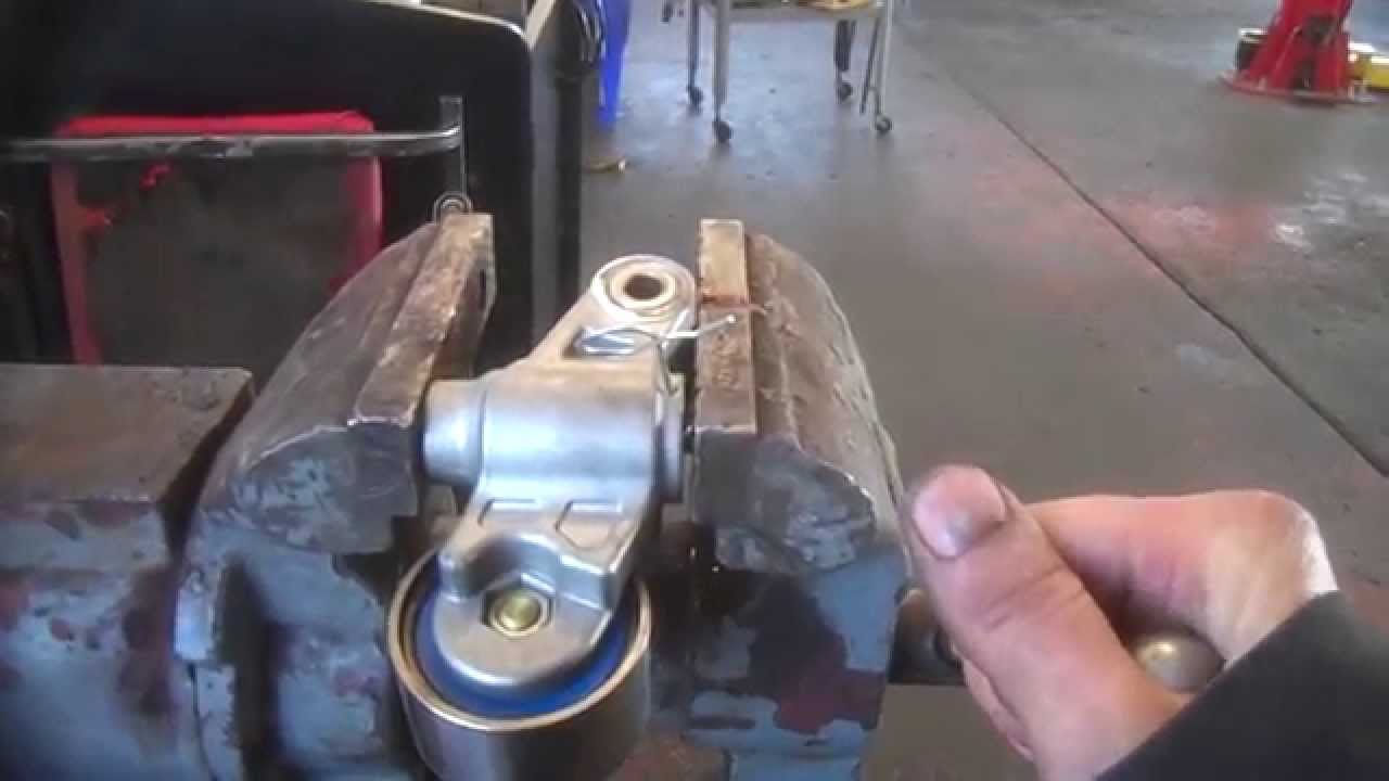 Timing Belt Pulley Bent Collapsing Hydraulic Tensioner For Many Jobs Youtube
