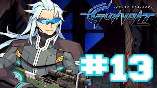 Azure Striker Gunvolt - Walkthrough Part 13 Mission Azure True Final Boss: Asimov + True Ending [HD]