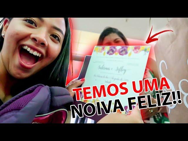 OS CONVITES ESTÃO PRONTOOS!! #diáriodanoiva Ep4   comprinhas e +