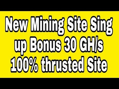 World Mining New Bitcoin Mining Site 2018 Sign up Bonus 30 GHs $ Online Income AK $