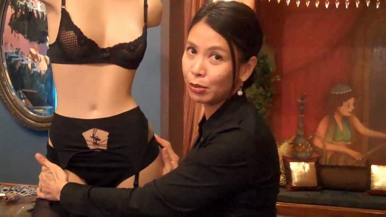 dc045d6b7 How to put on a garter belt. - YouTube