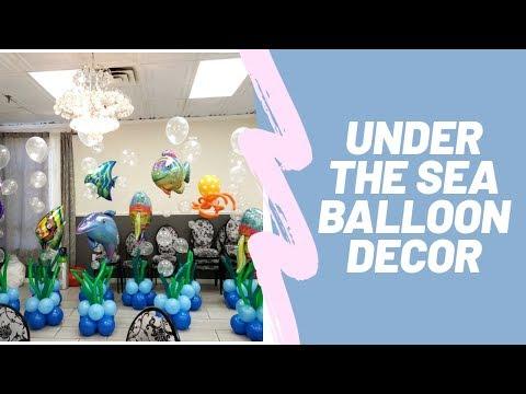 Under The Sea Balloon Decor | Balloon Bubbles | How To | DIY Balloon Decor Tutorial