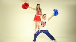 Cheerleading with Jim & Zoella