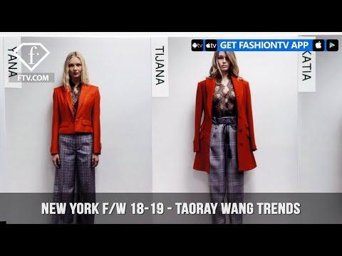 Taoray Wang Trends New York Fashion Week Fall/Winter 2018-19 | FashionTV | FTV