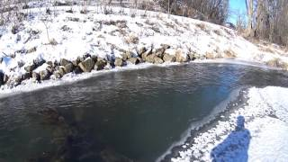 wisconsin trout fishing wi opener 1 7 2017 cold and icy