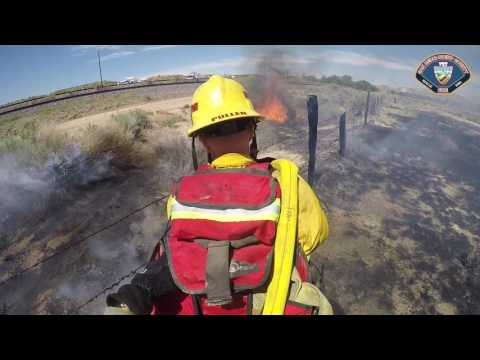 HIGH WINDS CHALLENGE FIREFIGHTERS AT MOJAVE RIVER BRUSH FIRE