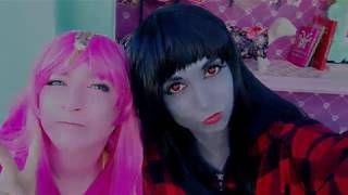 Just us having fun in our Marceline and Princess Bubblegum cosplay!...