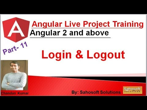Live Project : Login and Logout : Part 11 : Angular Live Project Training thumbnail