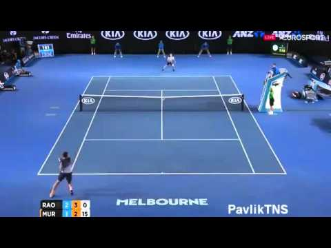 HOTSHOT: Milos Raonic vs Andy Murray - Australian Open 2016