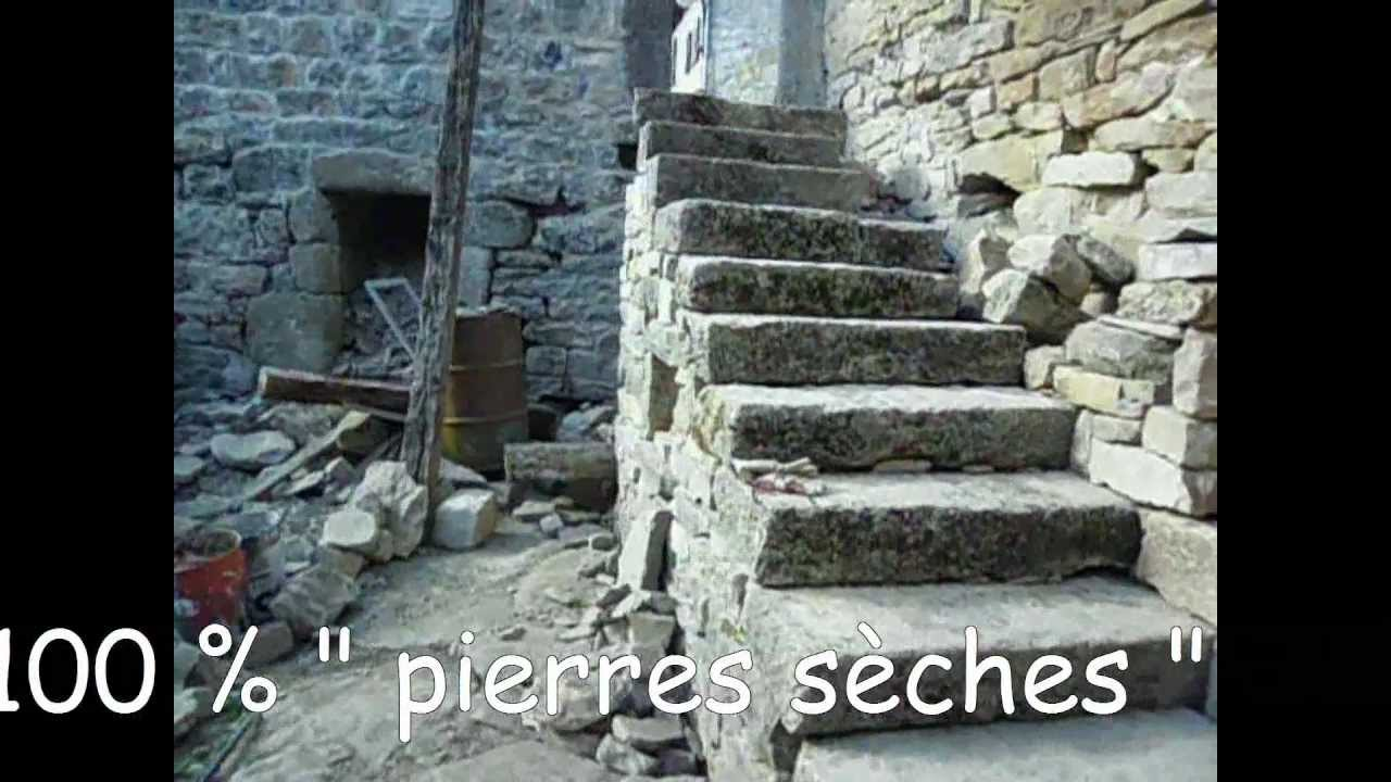 Fabuleux escalier monumental 100 % pierres sèches - YouTube DG71