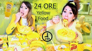 MANGIO SOLO CIBO GIALLO PER 24 ORE *Eating Ony YELLOW FOOD for 24 HOURS* | Carlitadolce
