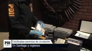 Brigada de Delitos Económicos desbarata banda que falsificaba permisos de circulación