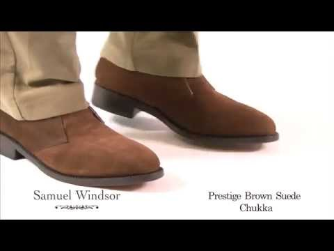 Brown Suede Prestige Chukka Boots from Samuel Windsor