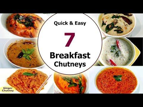 7 Daily & Regular Chutney Recipes || Quick & Easy Breakfast Chutneys