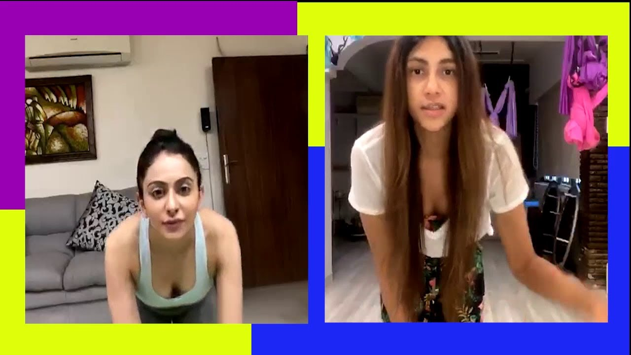 Download Actress Rakul Preet Singh's hot yoga session with her trainer