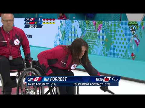 Canada v China | Semi-finals | Wheelchair curling| Sochi 2014 Paralympic Winter Games