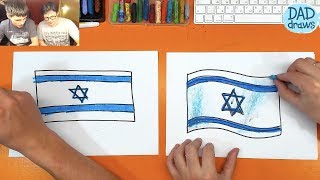 How to draw Flag of Israel