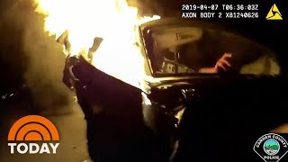 Fiery Crash On A New Jersey Highway Caught On Camera | TODAY