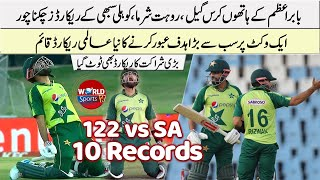 Babar Azam broke Virat Kohli, Chris Gayle's records | Babar Azam batting today | Babar Azam 122