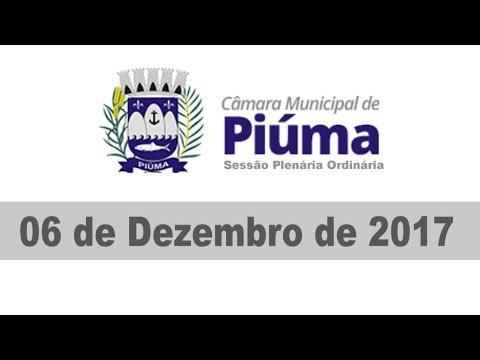 Câmara Municipal de Piúma - Sessão do dia 06/12/2017