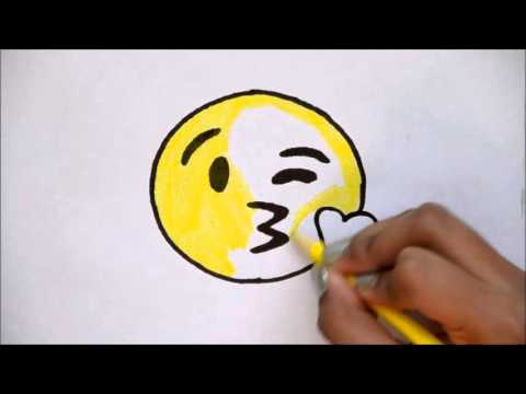 How To Draw The Kissing Emoji For Beginners Youtube