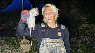 無人島に居る野生のネズミを捕まえて丸焼きにして食べてみたら…