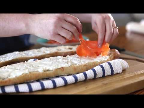 Smoked Salmon & Cream Cheese Baguette