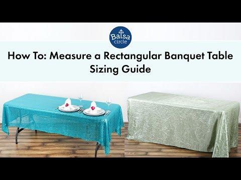 Rectangular Tablecloths Sizing Guide | BalsaCircle.com