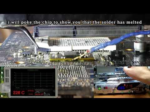 Repairing HP-Compaq CQ56 Laptop - No Video Signal - BGA Reballing