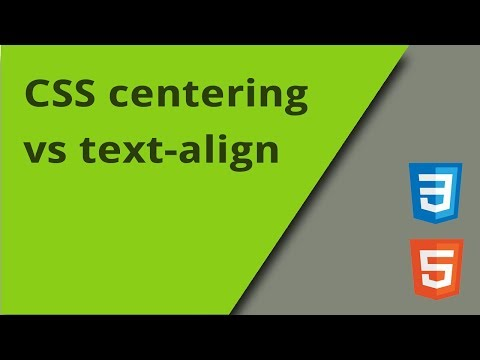 CSS Centering Vs Text-align