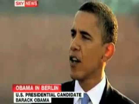 Obama in Berlin! NWO speech.