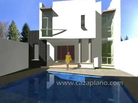 Diseños de casa moderna 3D, incluye planos de casas ...