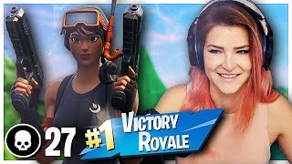 INSANE 27 FRAG WIN DUOS VS SQUADS! w/ NRG KAYSID (Fortnite: Battle Royale) | KittyPlays