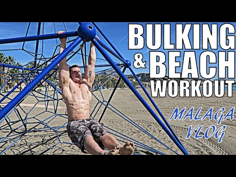 Bulking & Beach Workout in Malaga | Full Holiday of Eating