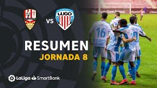 Resumen de UD Logroñés vs CD Lugo (2-3)
