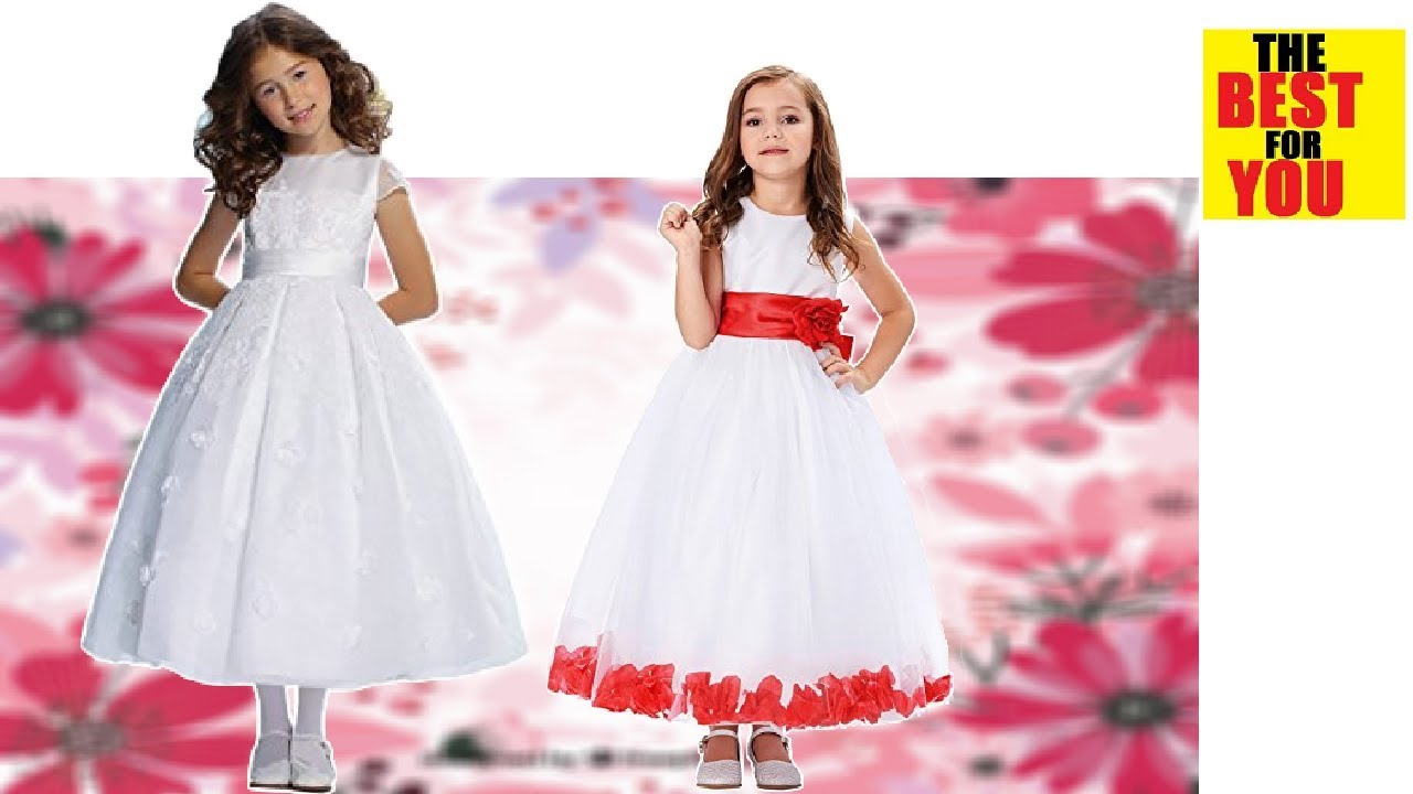 Girl party wedding Gowns kids flower Girl Dress collection in amazon ...