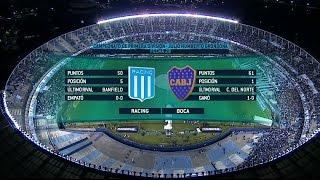 Fútbol en vivo. Racing - Boca. Fecha 28. Primera División 2015. FPT