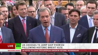 'EU is failing, EU is dying': Nigel Farage speech following Brexit vote